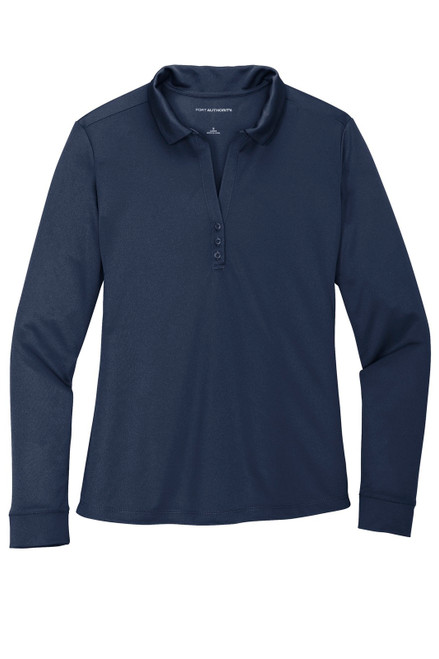 Port Authority Ladies Silk Touch Performance Long Sleeve Polo (L540LS)