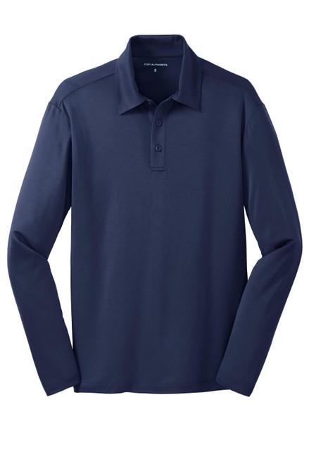 Port Authority Silk Touch Performance Long Sleeve Polo