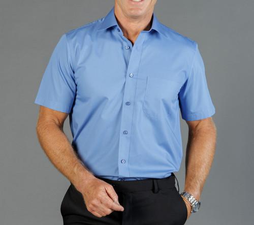 Premium Poplin Mens Short Sleeve Shirt