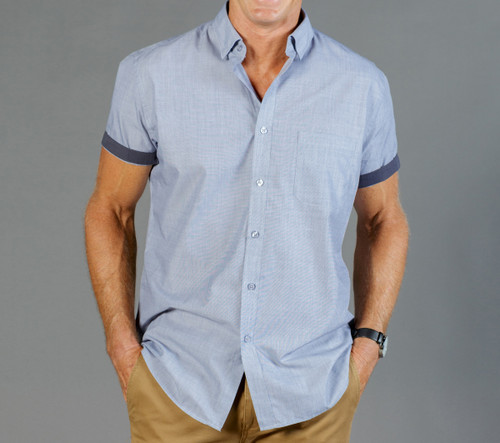End On End Mens Short Sleeve Casual Slim Fit Shirt