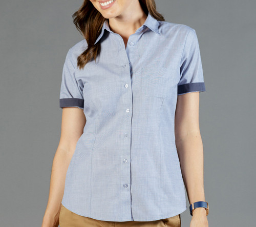End On End Womens Short Sleeve Casual Slim Fit Shirt