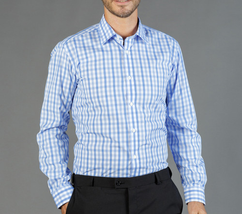 Tonal Check Mens Long Sleeve Shirt