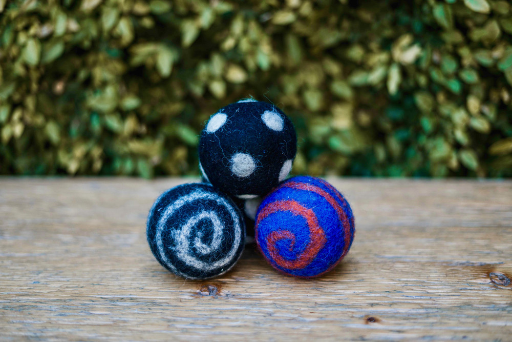 Our felt balls are a favorite of cats and dogs alike! Come assorted.