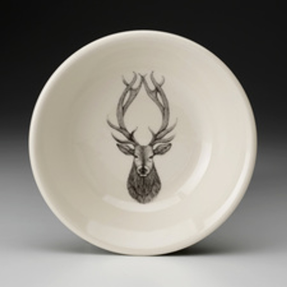 """Stag These Laura Zindel Design sauce bowls are made from creamy white high-resistance china. These products are microwave and dishwasher safe, and durable enough for everyday use. Size: 4.75"""""""