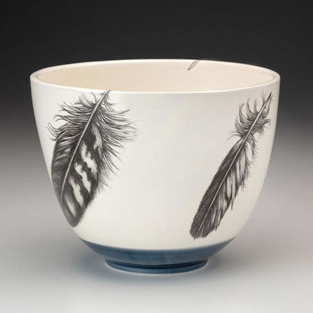 Laura Zindel Design handmade ceramic bowls are functional works of art. Each bowl is crafted from earthenware and glazed with our own hand mixed glazes and finished with Laura's signature illustrations.