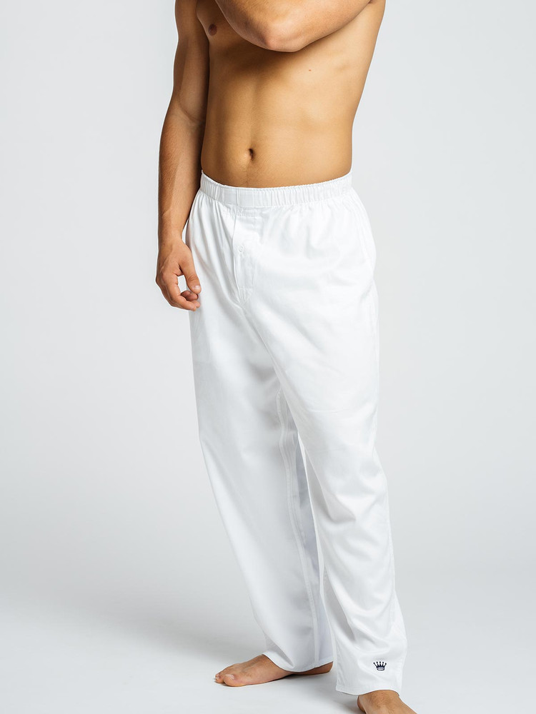 These full-length lounge pants are comfortable and stylish, especially when your style is leisure. Crafted from our famous Pima cotton cloth, they've taken the Royal Highnies boxers and extended them, making it acceptable to wear undies all the time. Combine with a Royal Highnies Lounge Top to create the ultimate leisure experience.