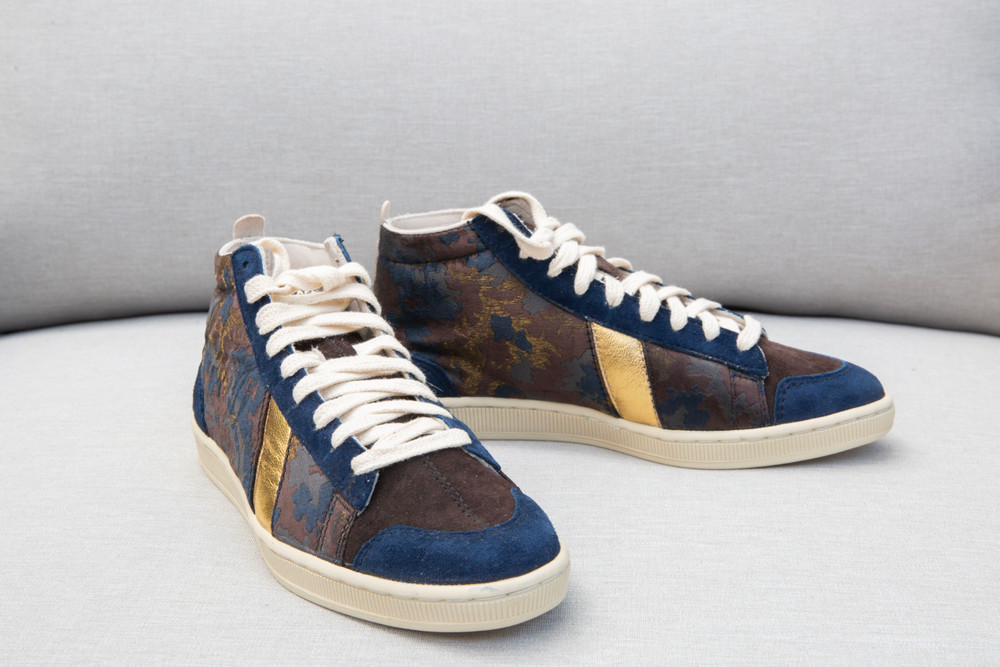 Cotelac sneakers made of smooth leather + and unique designs.  Camouflage Leather