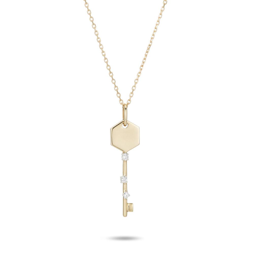 Tiny Amigos Hexagon Key Necklace