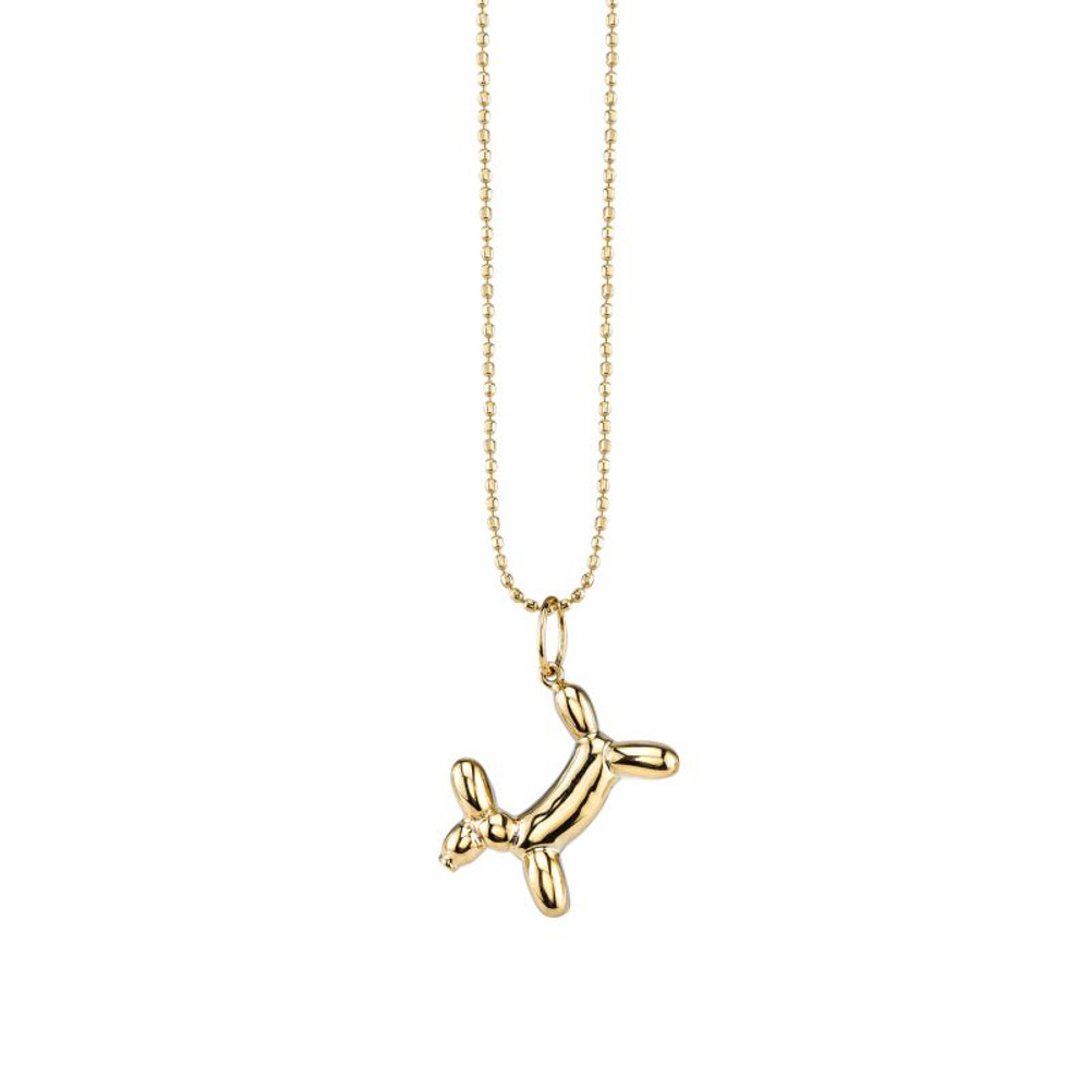 Balloon Dog Charm Necklace