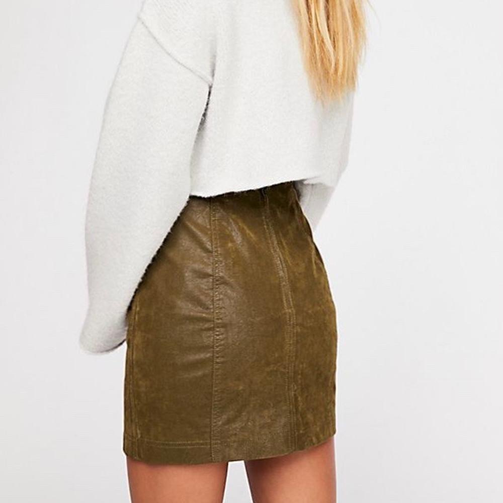 Modern Femme Vegan Suede Skirt