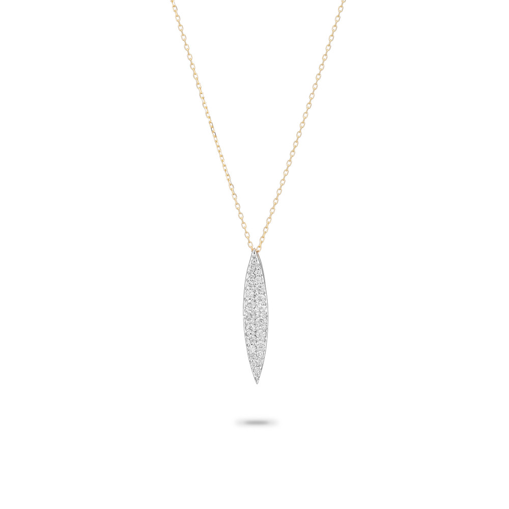 Small Pave Marquise Necklace - MXD