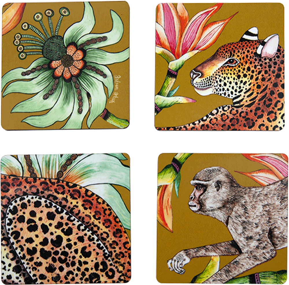 Inspired by the life of the vibrant Zambezi River basin, these whimsical and elegant designs add vibrance to any space.