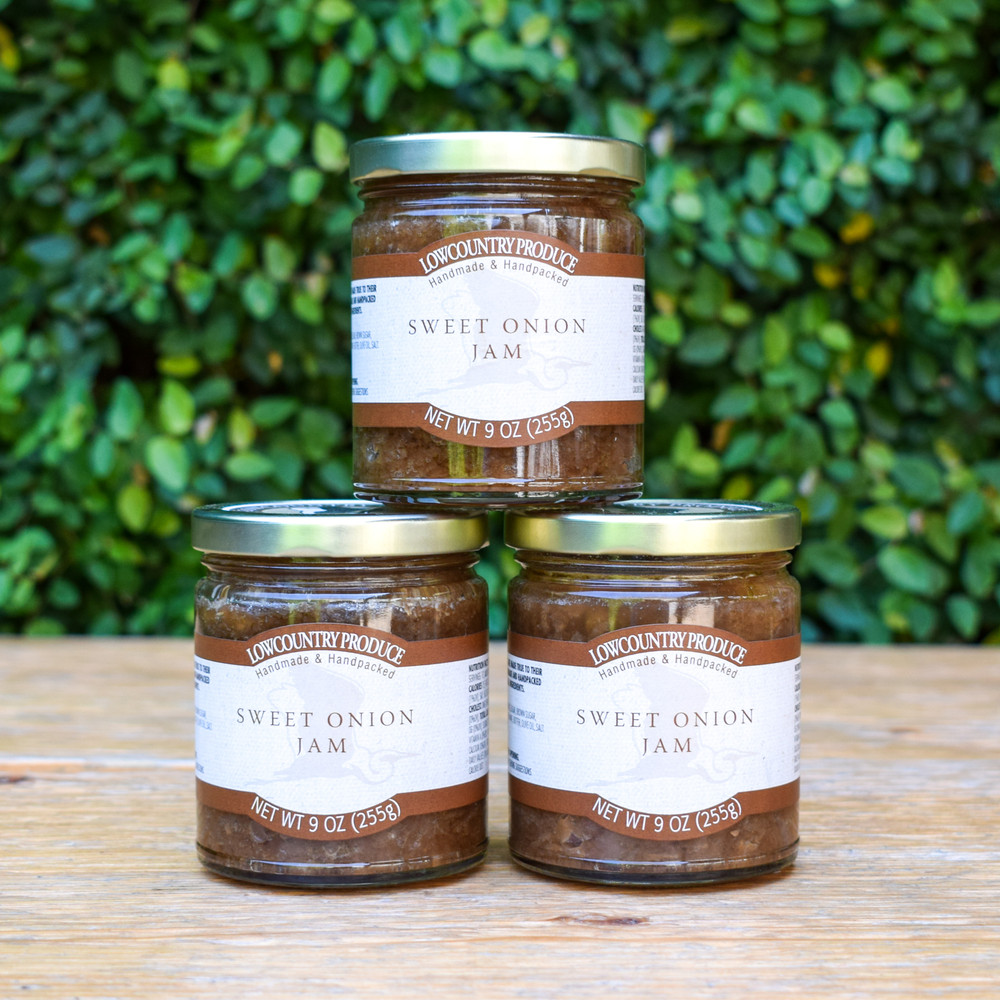 Low Country Produce is known for their unbeatable jams and jellies, and the Sweet Onion Jam is no different. Sweet and savory it's a killer marinade on pork and fish, or serve it with your favorite fragrant cheese.