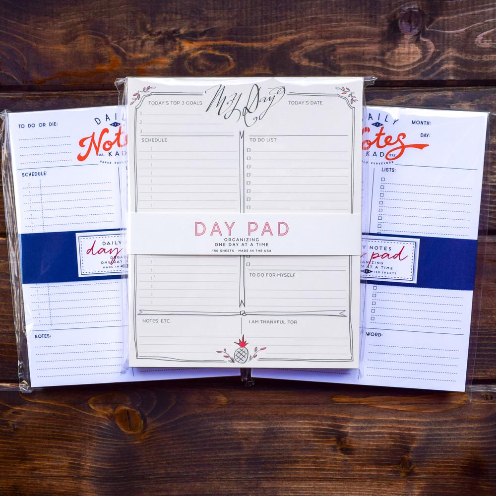 Day Agenda Pad