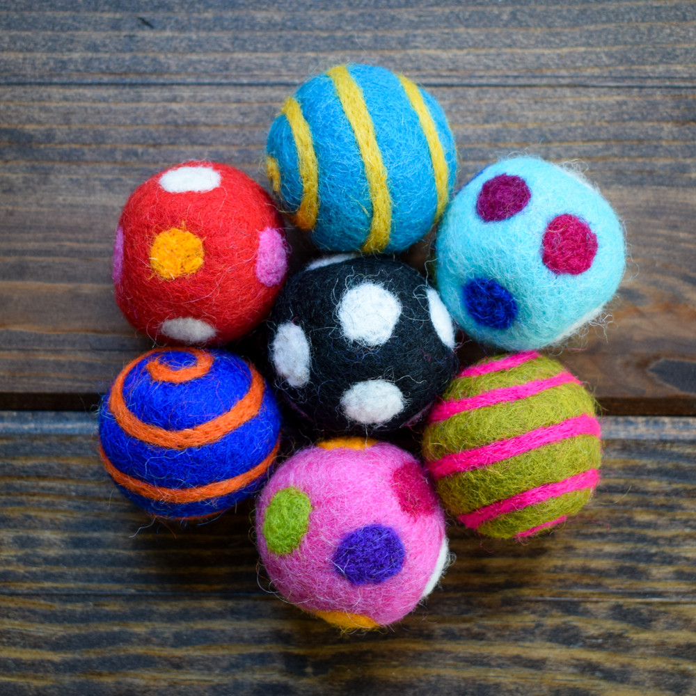 Mini Assorted Felted Pet Balls