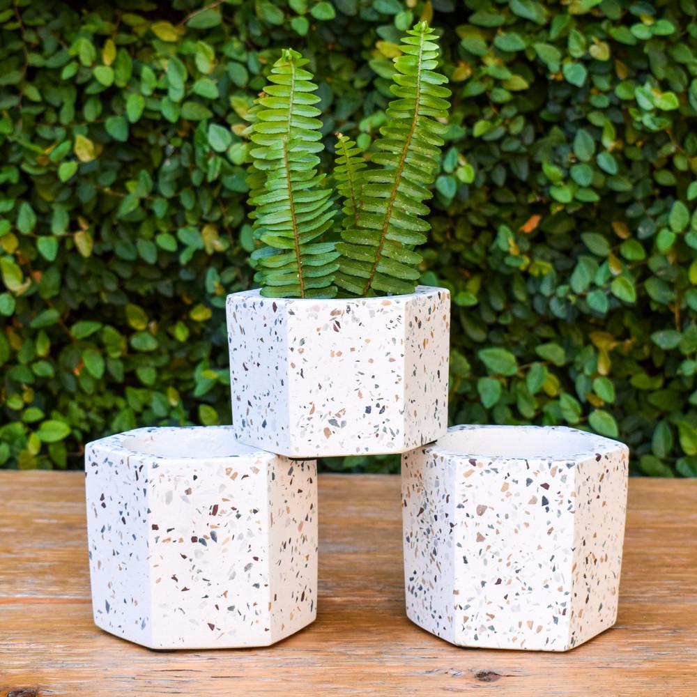 Terrazza Hex Vase - Small