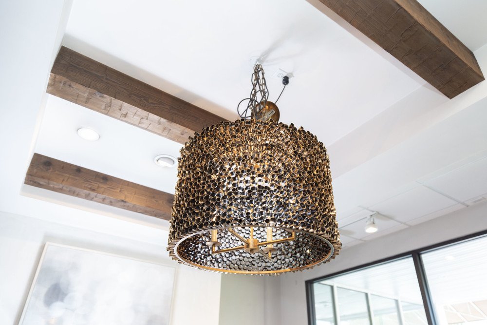 Port Merion Chandelier - Large - Antiqued Gold