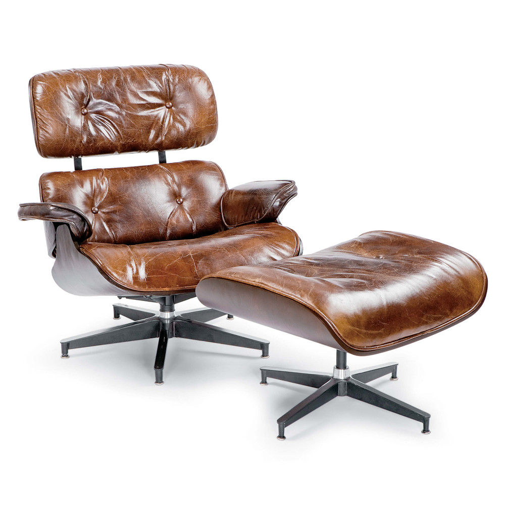 The Barca Lounge and Ottoman is stylish and comfortable - what more could you need? A nod to the mid century classic, this Barca Lounge and Ottoman will become your favorite place to sit. The seat is finished in  vintage Argentinian leather while the back is a beautiful smooth wood making it good looking from every angle.