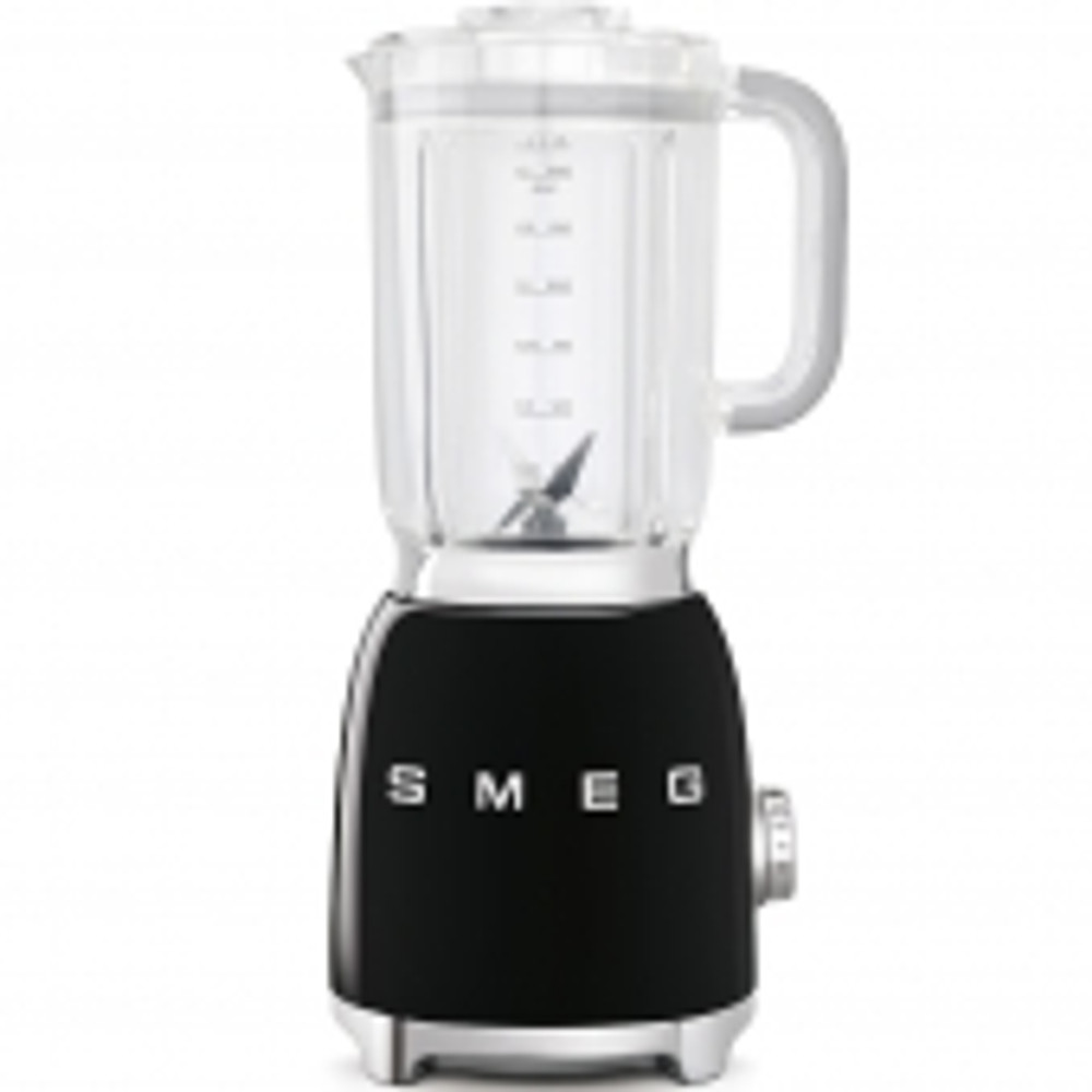 Smeg's aesthetic has become iconic, a retro 50's feel with high quality Italian  craftsmanship. Their blender is one you will never dread getting out of the cabinet, its powder coated aluminum is available in a variety of colors and is perfectly accented with a backlit chrome knob.  Inside it contains detachable dual blades, a safety lock when removing the jug and  three preset programs, smoothie, ice crush, and pulse.