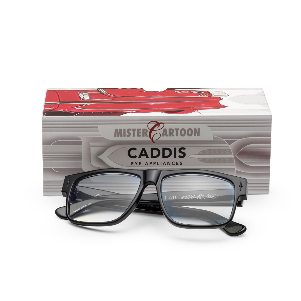 Caddis' mission is to recreate the idea of age, they believe in celebrating who you are right now and not buying into the fountain of youth. The Mister Cartoon collaboration glasses are inspired by his youth, the liquor store glasses and custom cruiser skirts on classic cars, and fully encompass the cool vibes that came along with that time.
