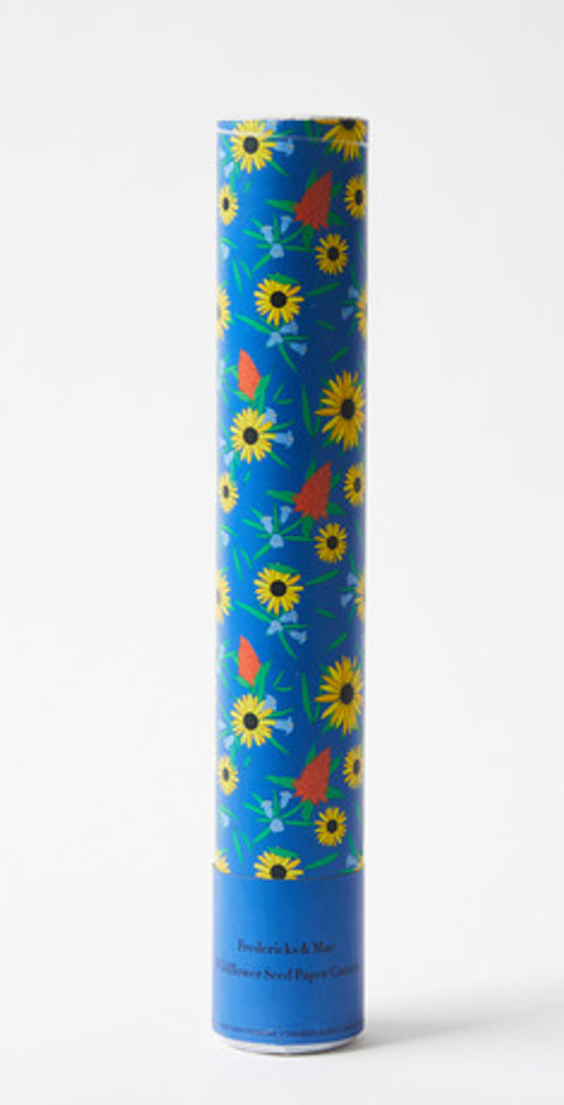 A party in a cannon - these Wildflower Confetti Cannons are a great outdoor celebration, enjoy the confetti now and the wildflowers when they bloom! Made with compressed air, paper embedded with Black-Eyed Susans, cockscomb and sesame flowers paper tube.