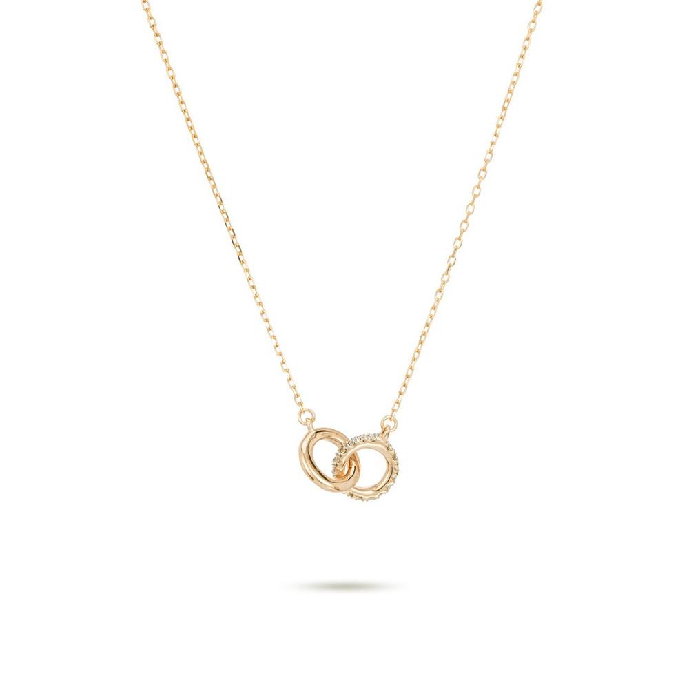 Pave Interlocking Loop Necklace