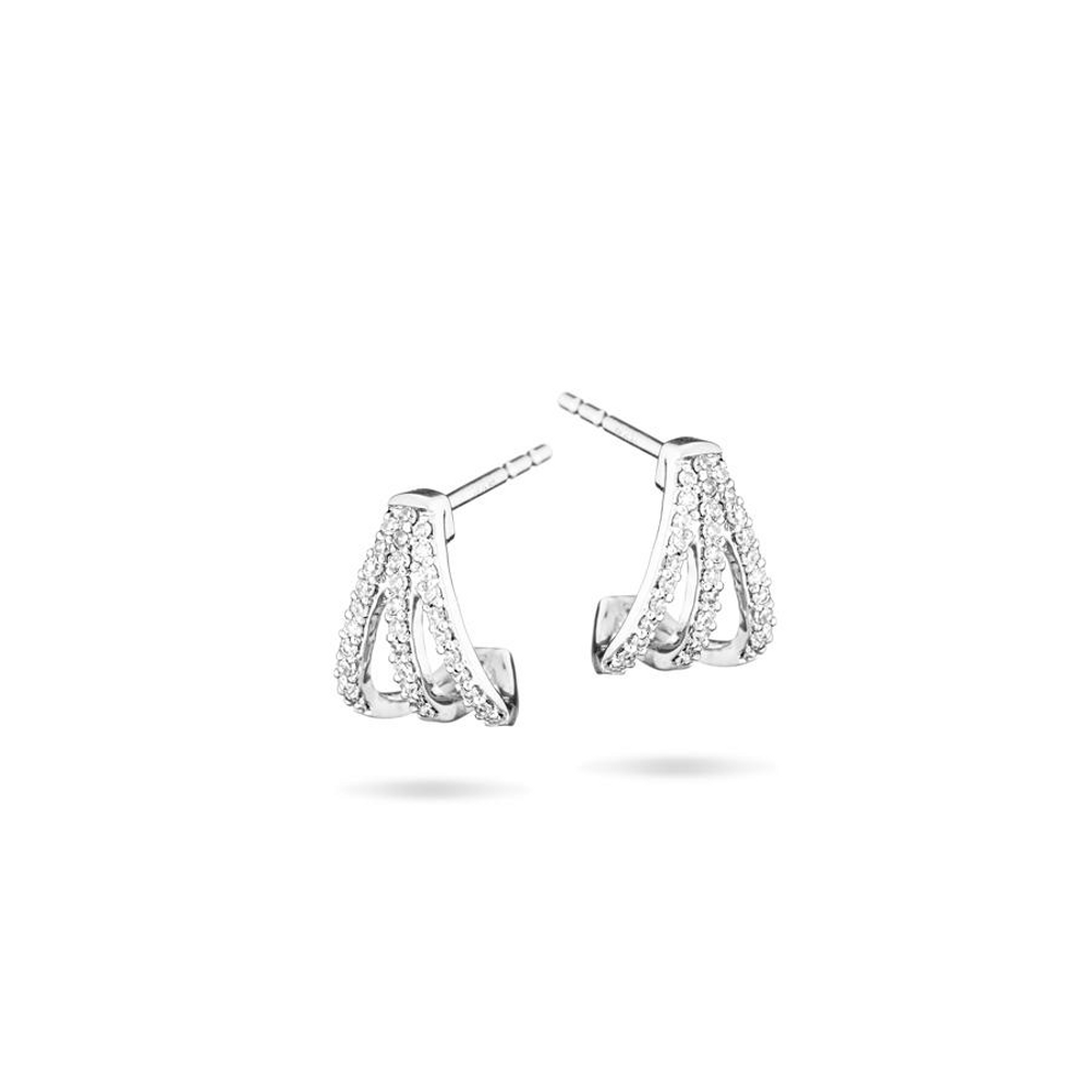 Pave Triple Hoops