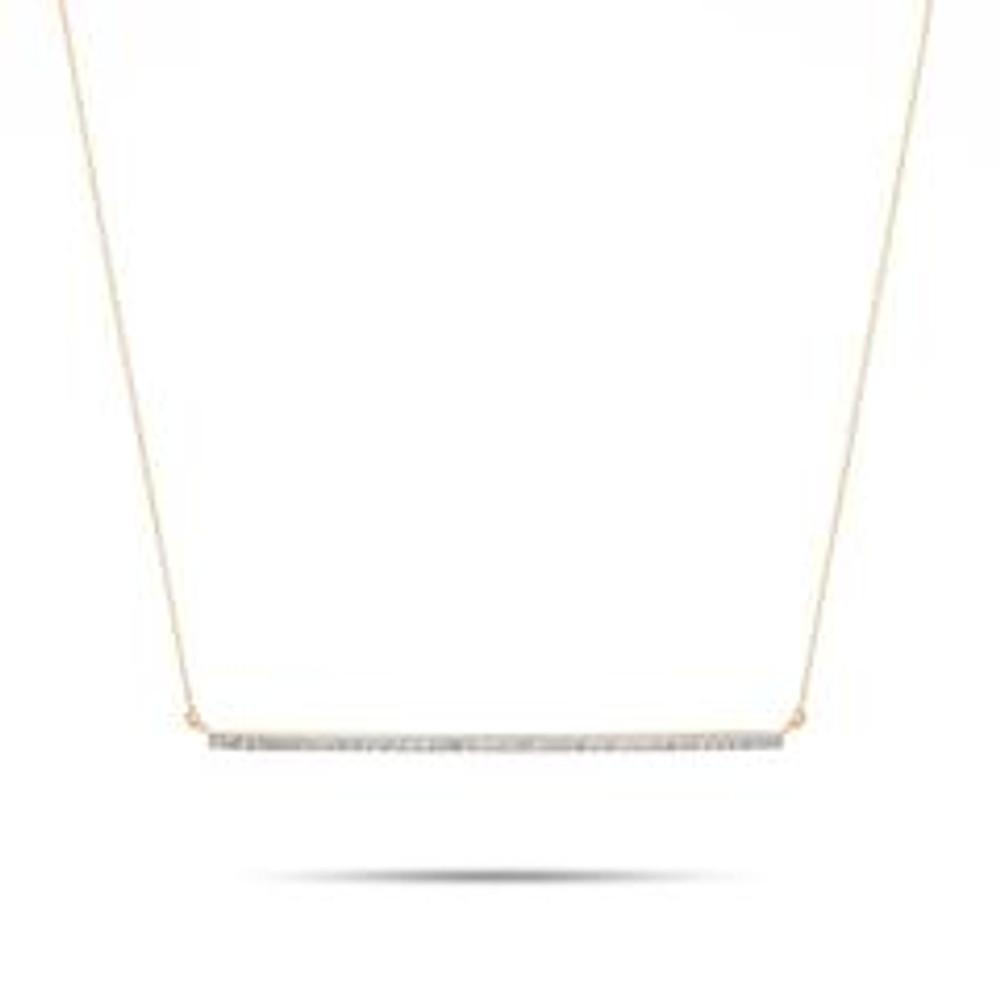XL Pave Bar Necklace