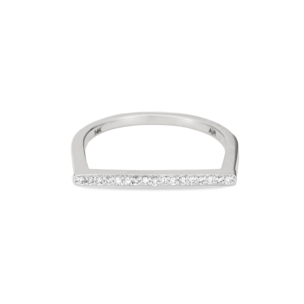 Pave Flat Bar Ring