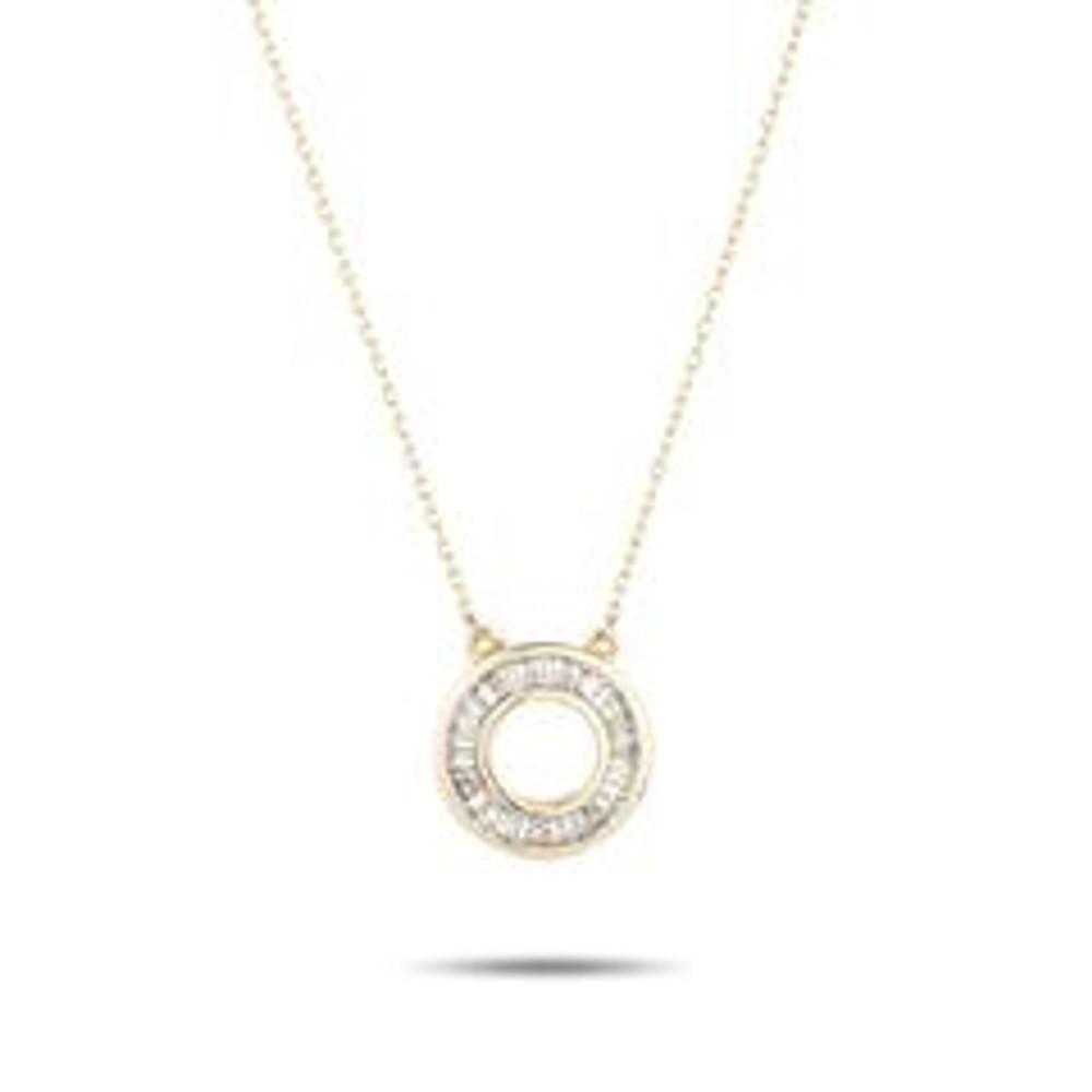 Baguette Circle Necklace - Y14
