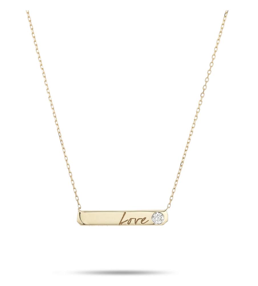 Love Diamond Bar Necklace - Y14