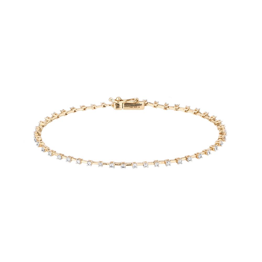 Diamond Station Tennis Bracelet - Y14
