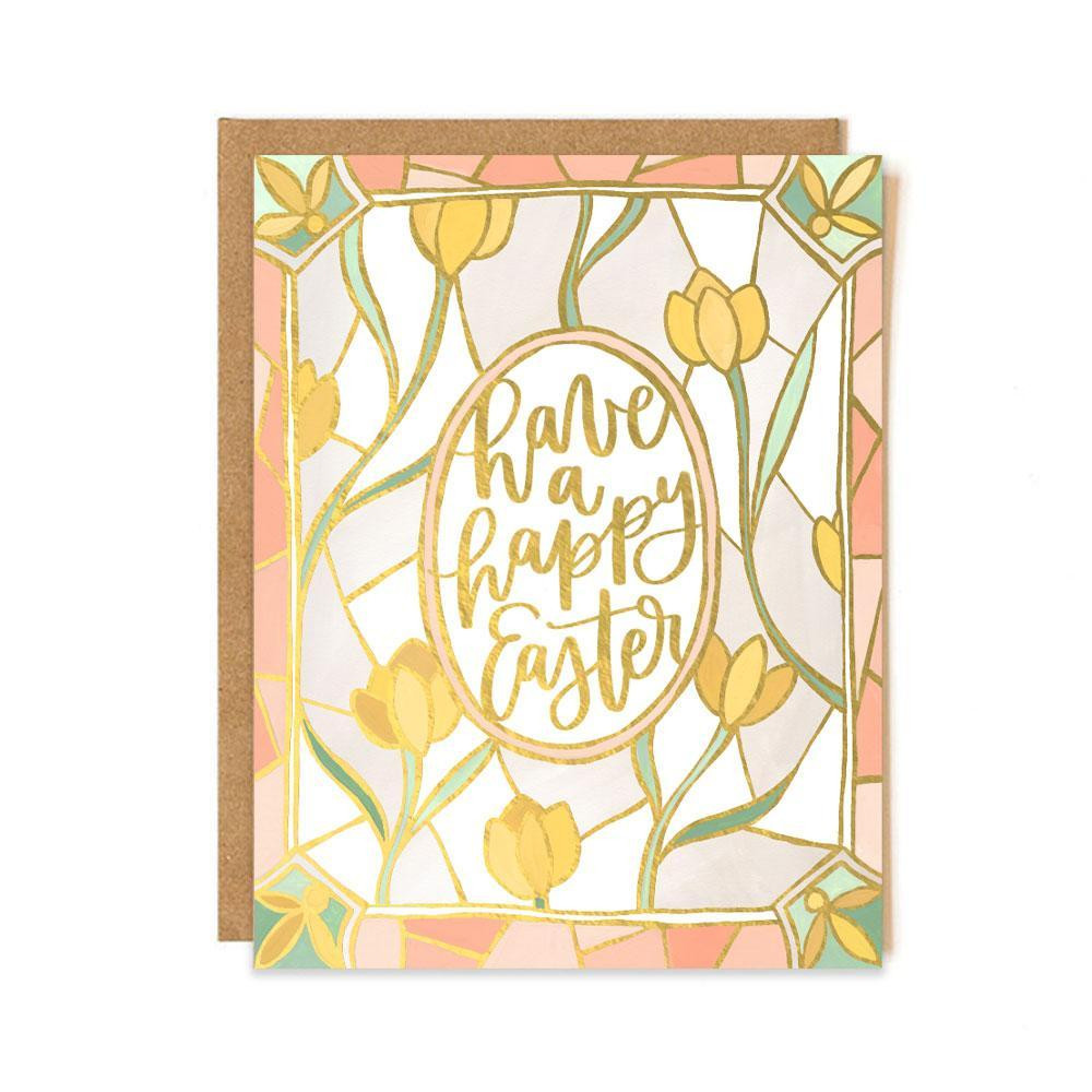 """Gold foil card made in the USA, blank on inside. 4.25"""" x 5.5"""""""