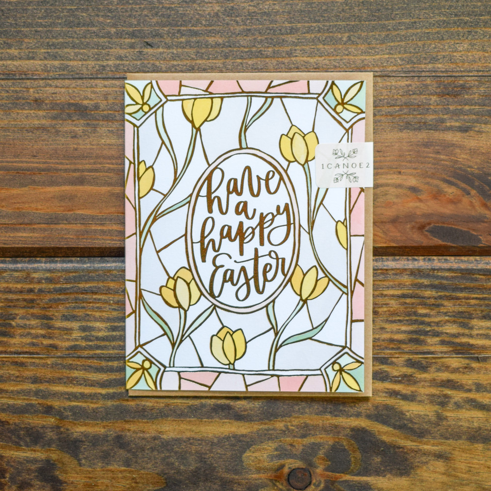 Easter Stained Glass Card