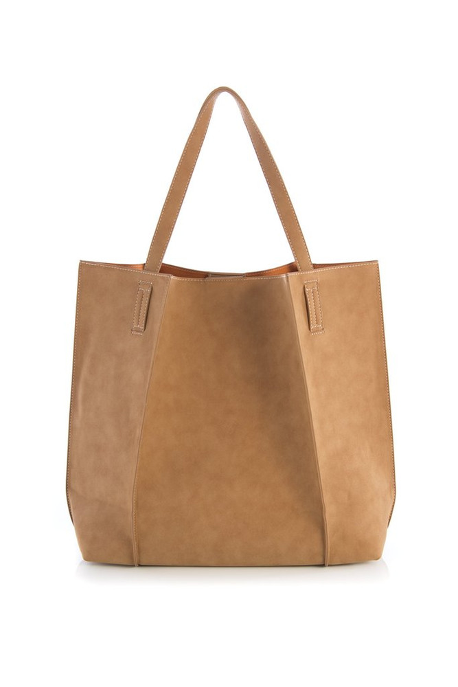Tan  Our Shiraleah Blair Tote is a bag with great versatility and style. Elegantly made from vegan leather, the Blair tote is fun, practical, and eco-friendly.