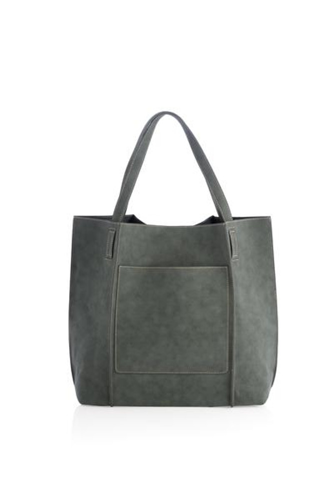 Green  Our Shiraleah Blair Tote is a bag with great versatility and style. Elegantly made from vegan leather, the Blair tote is fun, practical, and eco-friendly.