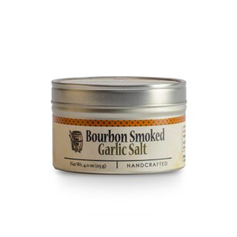 Garlic Sea Salt: A bourbon smoked, easy to use, extremely flavorful version of a classic spice blend. Slow smoked by hand using bourbon barrel staves, the large crystals of salt are blended with garlic, fennel and orange peel to create a flavorful combination.  Olive oil and a heavy sprinkle of Bourbon Smoked Garlic Salt is the perfect seasoning on all meats, poultry, seafood, and vegetables!