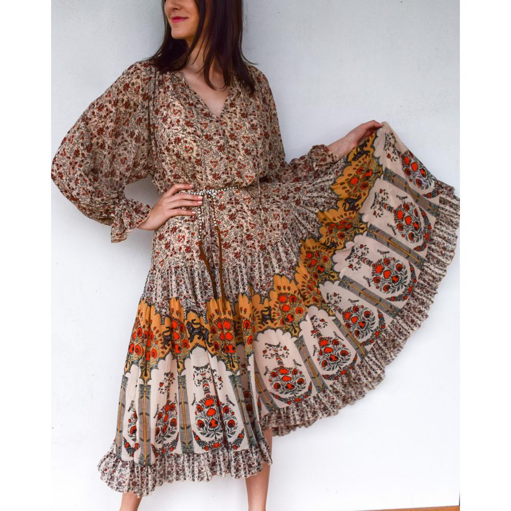 Feeling Groovy Border Maxi Dress
