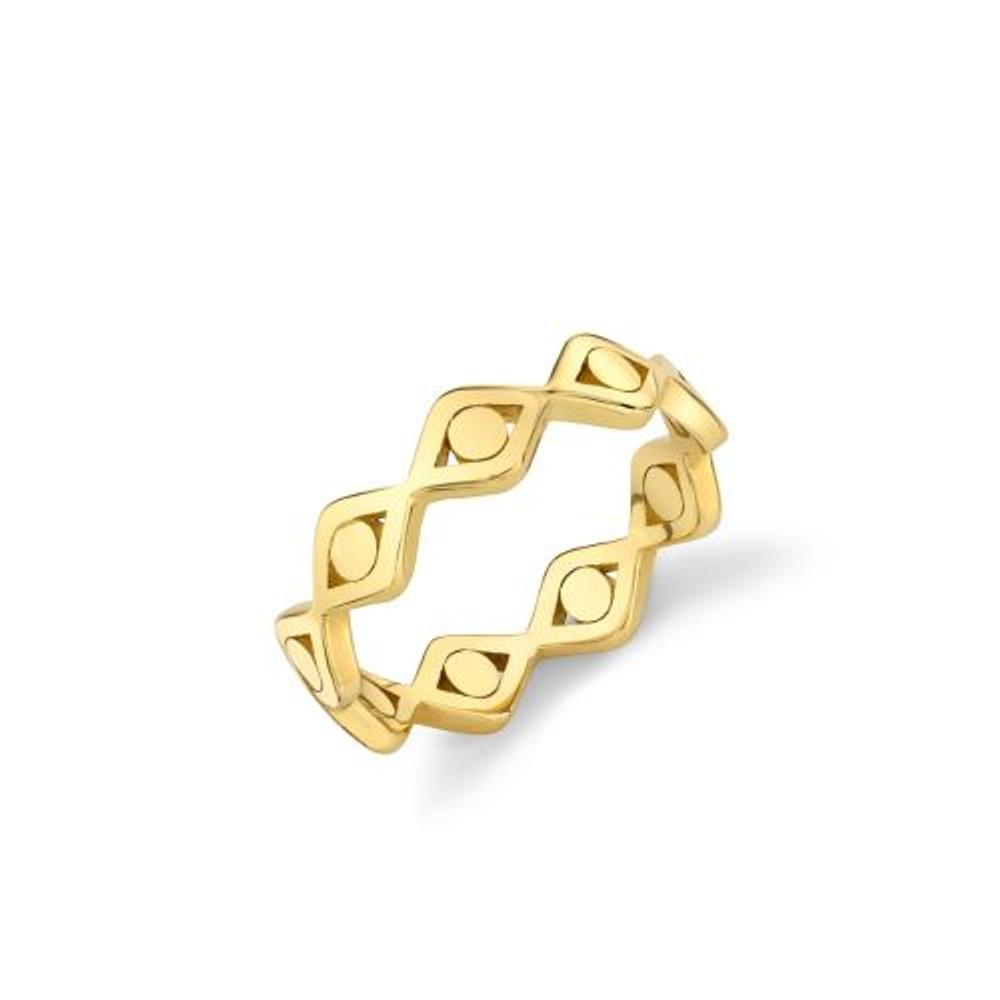 Evil Eye Link Ring - 6