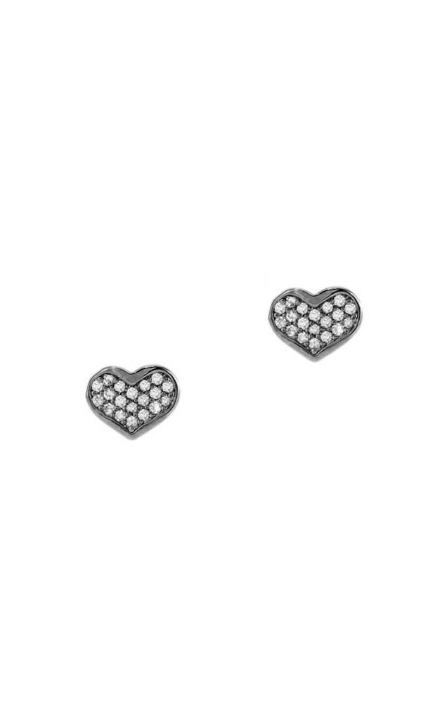 CZ Heart Stud Earring