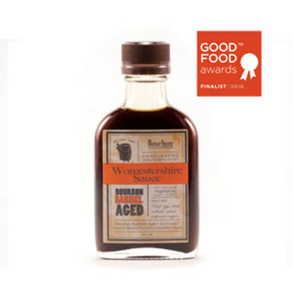 Bourbon Barrel has done it again -a unique take on a classic that results in excellence. Their Worcestershire Sauce is sweetened with sorghum, blended using Kentucky limestone water, and aged in bourbon barrel from Kentucky distilleries. It is all-natural, made in the USA and vegetarian. Perfect on eggs, in a bloody mary or on meat!