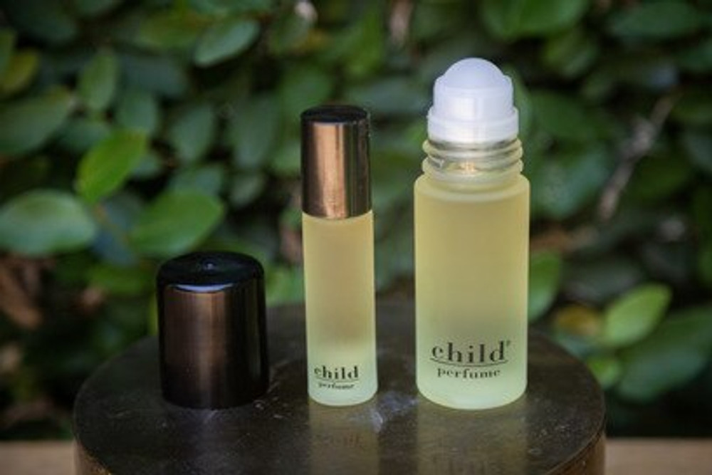 The formula for Child is rich and intoxicating. The uninhibited fragrance is derived from brilliant exotic flowers. Child is a personal, roll-on fragrance that beautifully retains the quality of understatement.