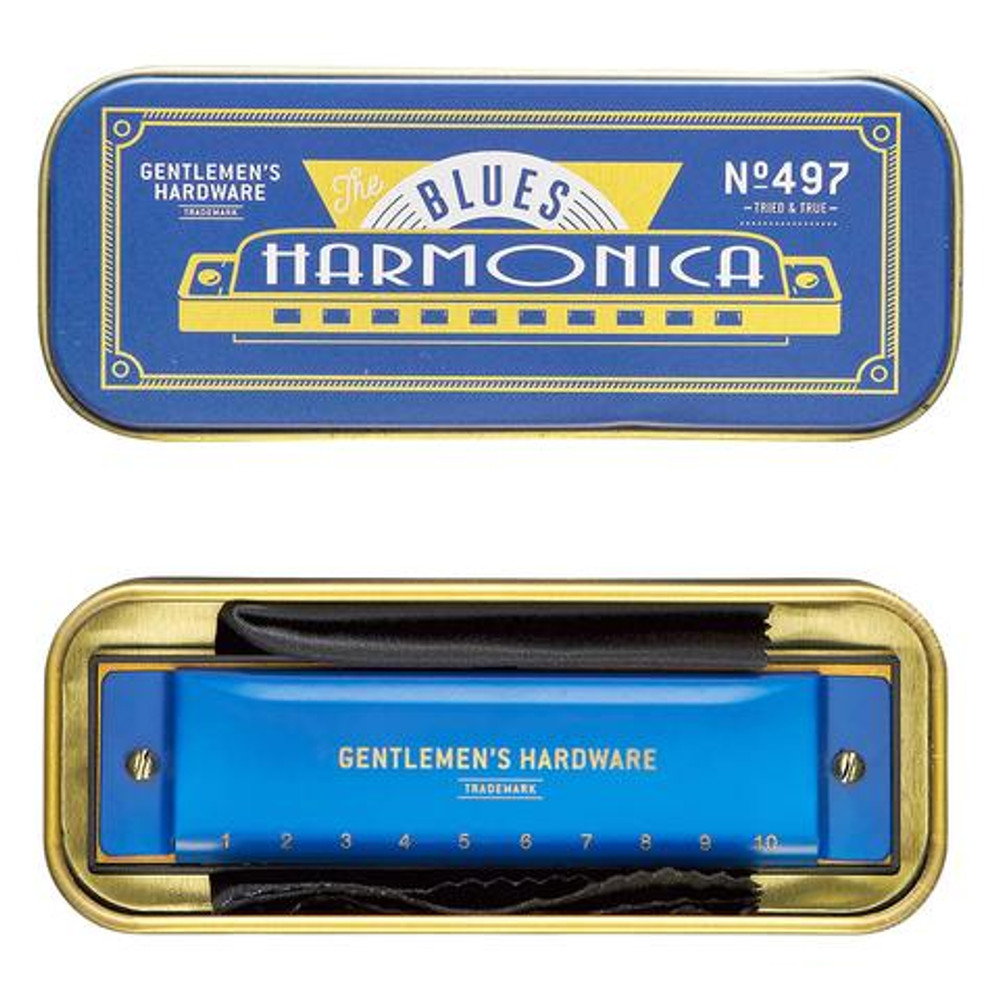 Channel your inner musician with this classic harmonica, perfect to play your favorite blues or honky tonk tunes!
