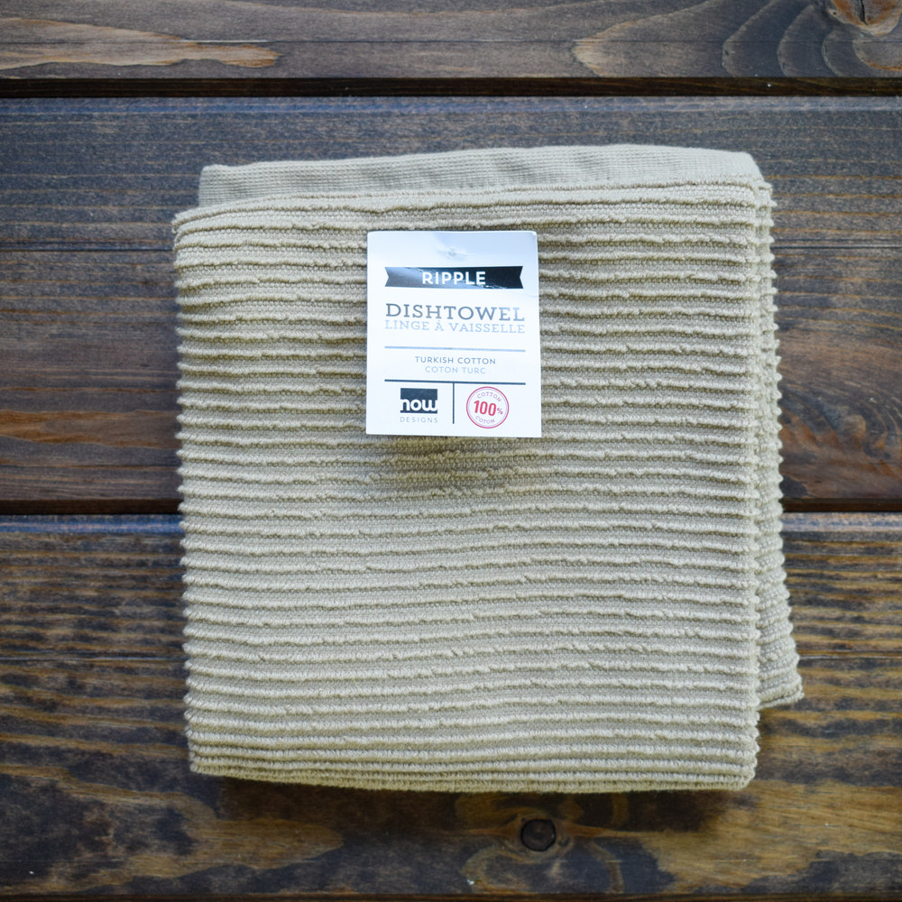 Sandstone  You've finally found the kitchen towel you've been searching for. The ripple towel is perfect, size, absorbent, good looking but also minimal, everything you could ever want in a dish towel. Available in array of vibrant colors to match your space perfectly, we promise you will never buy another type of dish towel after this.