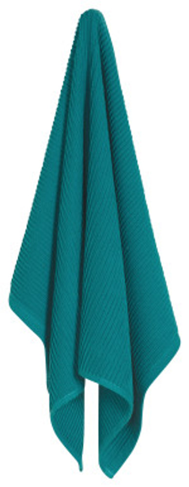 Peacock   You've finally found the kitchen towel you've been searching for. The ripple towel is perfect, size, absorbent, good looking but also minimal, everything you could ever want in a dish towel. Available in array of vibrant colors to match your space perfectly, we promise you will never buy another type of dish towel after this.