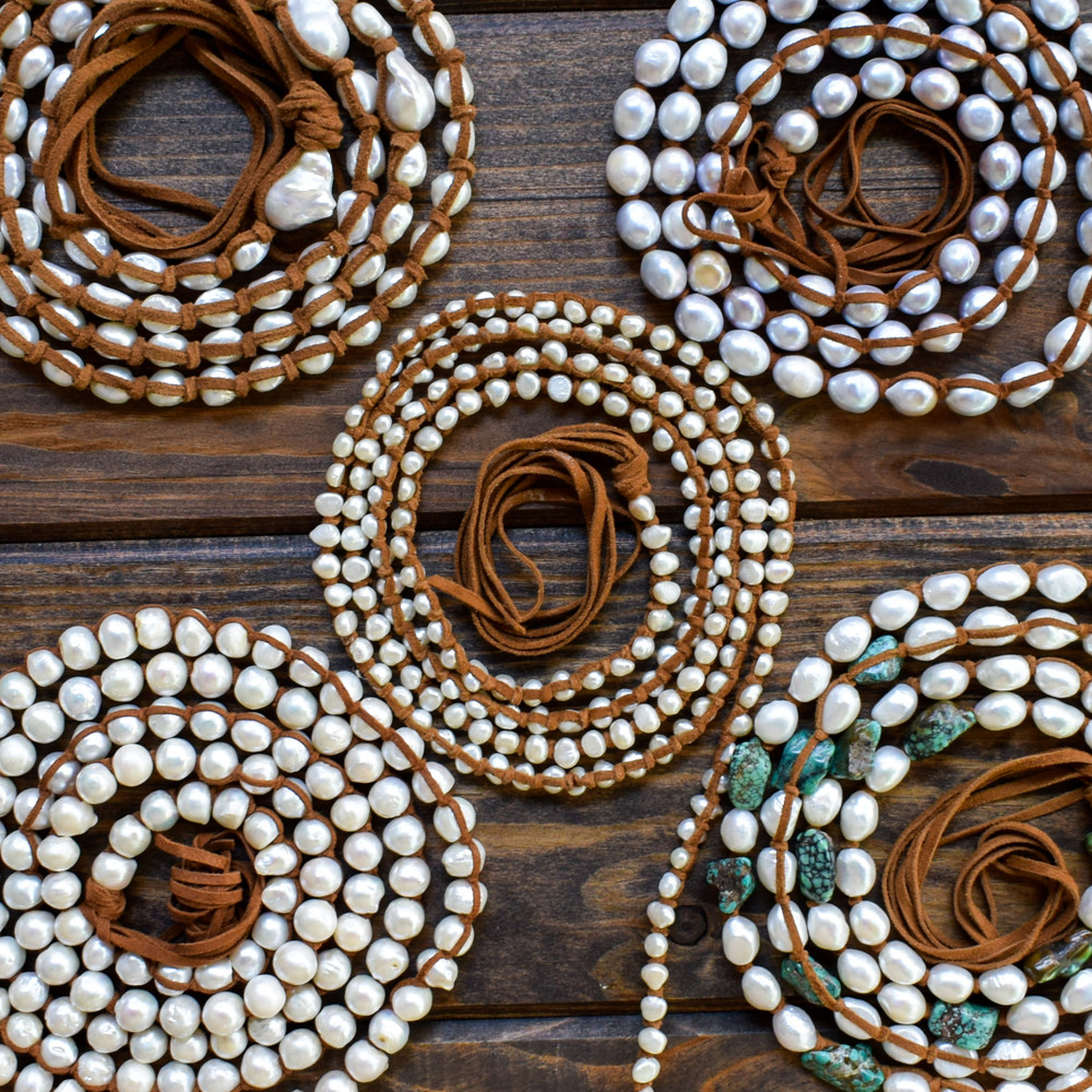 XLong Mini White Pearl Necklace
