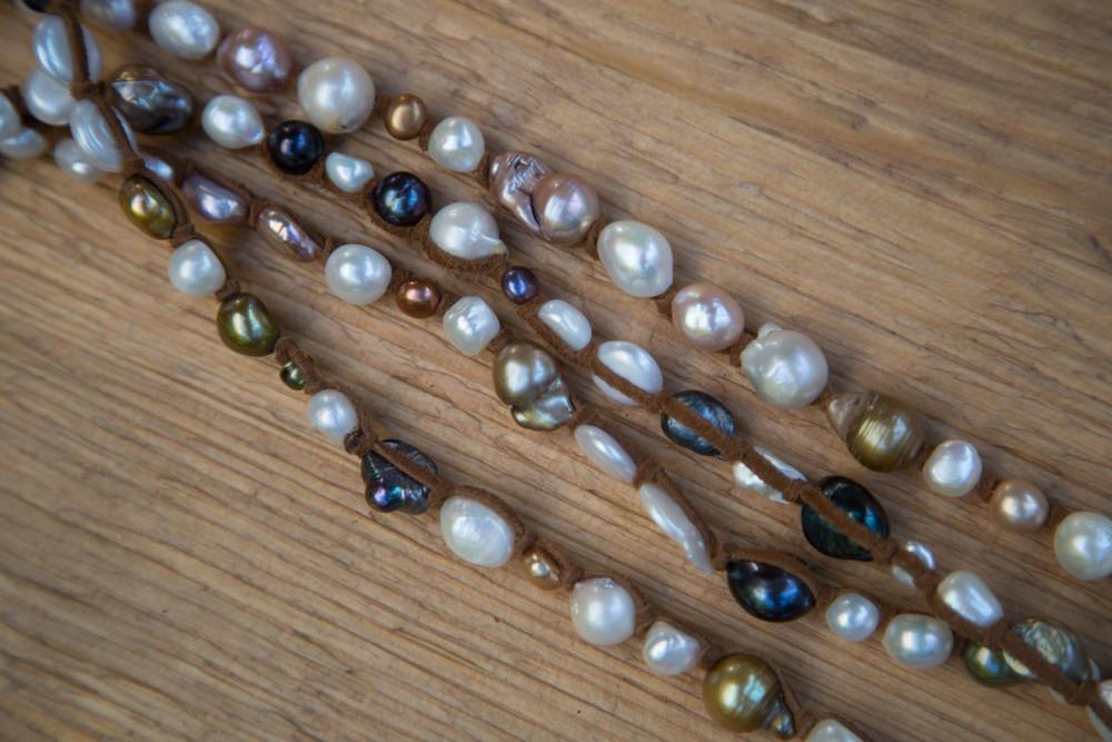 Multicolored Pearl Necklace - XLong