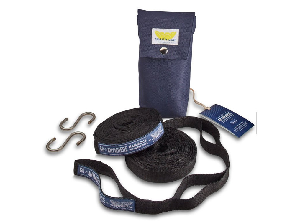 Take your hammock with you and hang anywhere with these versatile tree straps. No knots required with these pr-looped straps, and unlike traditional rope they will not cut into or damage your trees.
