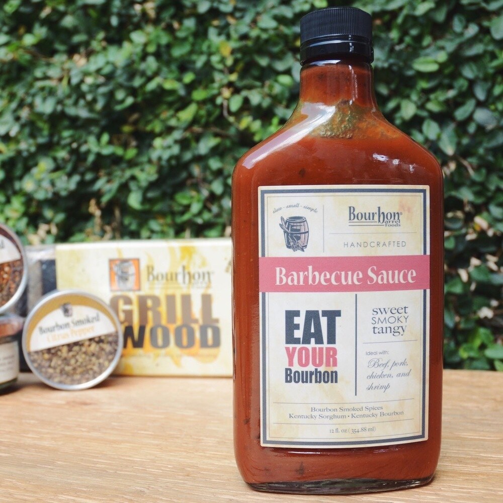 Sweet, smoky and tangy! This killer sauce features Bourbon Smoked Spices sweeten with Kentucky Sorghum and taken up a few notches with flavorful Kentucky Bourbon.