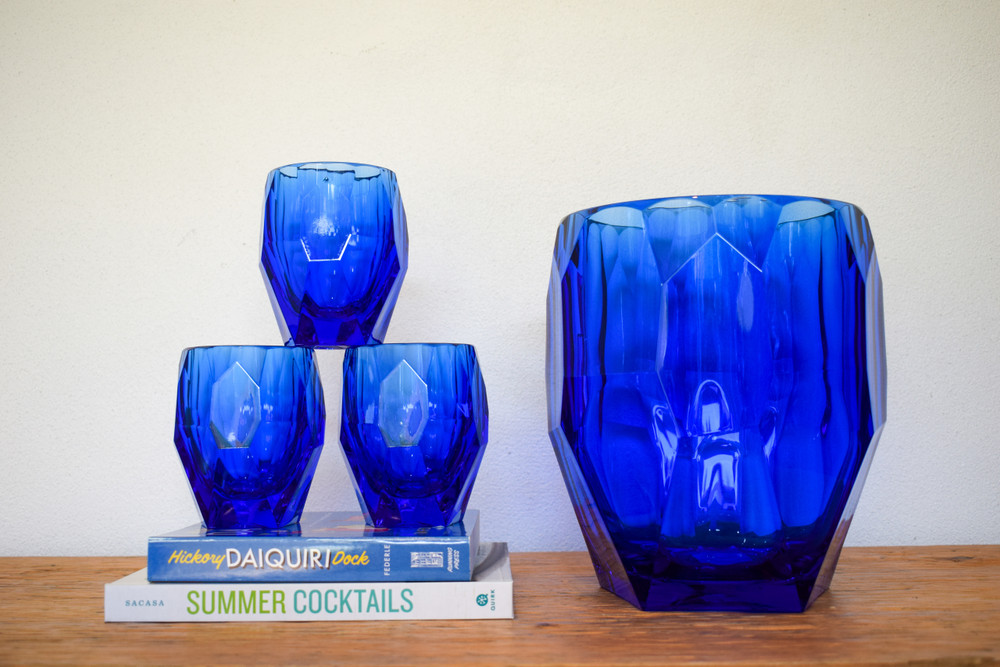 "A look of luxe, at a surprisingly light weight. Mario Luca has crafted these tumbler out of high grade lucite giving the look and feel of glass but the durability and lightness of acrylic. Perfect for by the pool, outdoor activities or inside for everyday!   Hand wash   Milly large: 4.3"" x 3.7""  Milly small: 3.9"" x 3"""